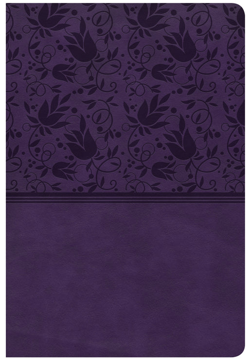 CSB Giant Print Reference Bible, Purple LeatherTouch, Indexed