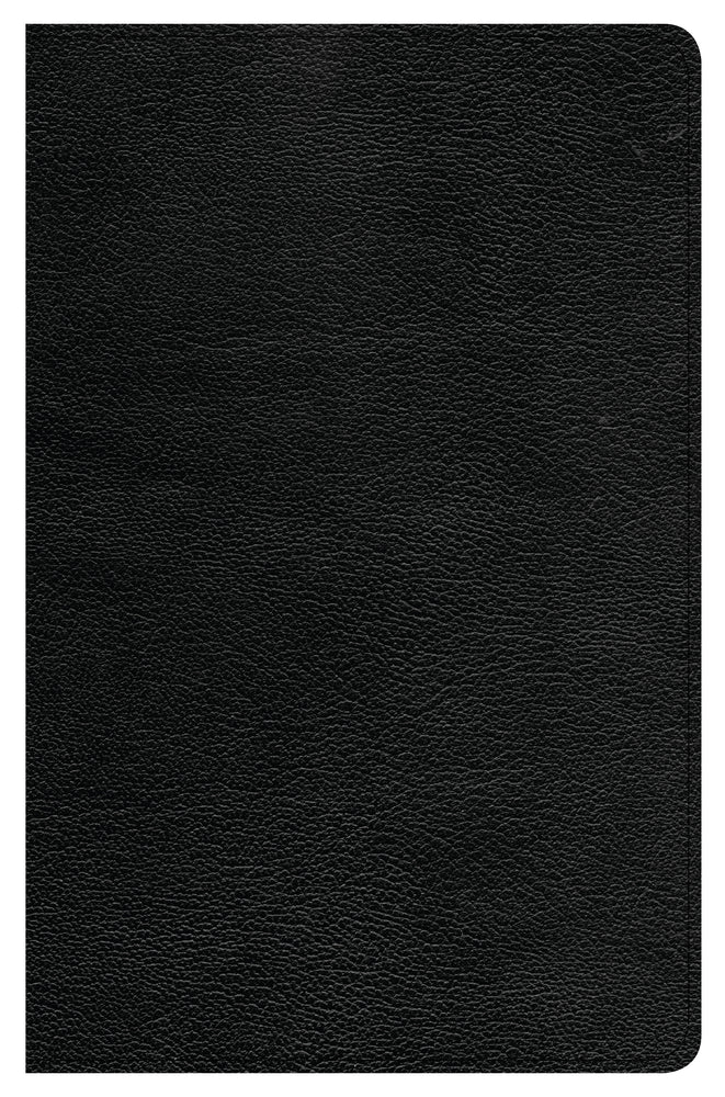 CSB Ultrathin Reference Bible, Black Genuine Leather, Indexed