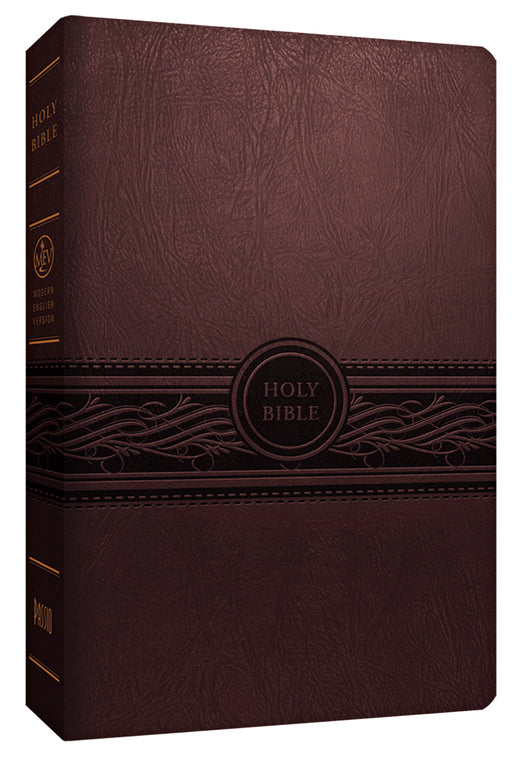 MEV Bible Personal Size Large Print Cherry Brown