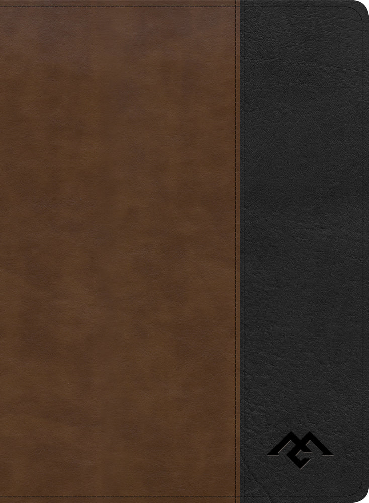 CSB Men of Character Bible, Brown/Black LeatherTouch, Indexed