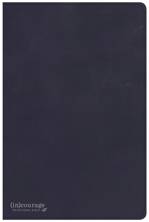 CSB (in)courage Devotional Bible, Navy Genuine Leather Indexed