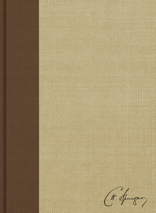 CSB Spurgeon Study Bible, Brown/Tan Cloth Over Board