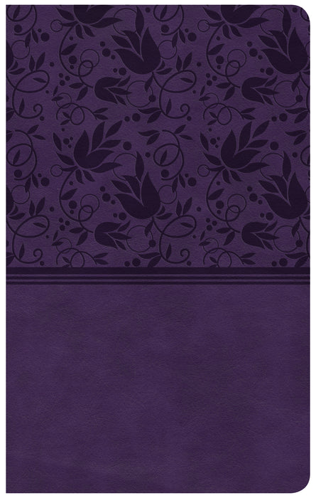 CSB Ultrathin Reference Bible, Purple LeatherTouch