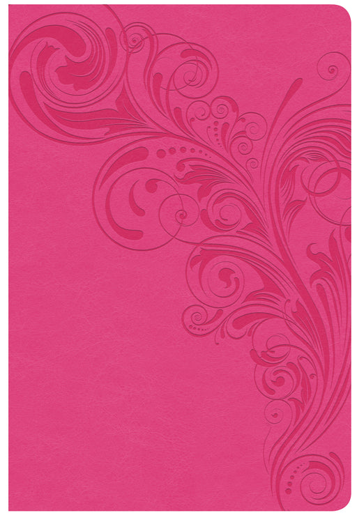 CSB Giant Print Reference Bible, Pink LeatherTouch, Indexed