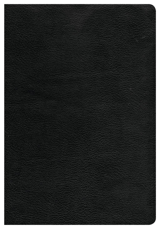 CSB Giant Print Reference Bible, Black Genuine Leather