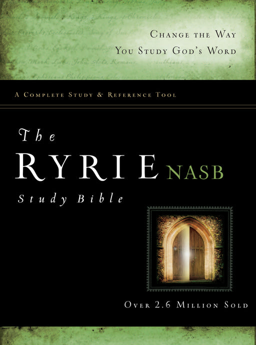 The Ryrie NAS Study Bible Hardcover Red Letter Indexed