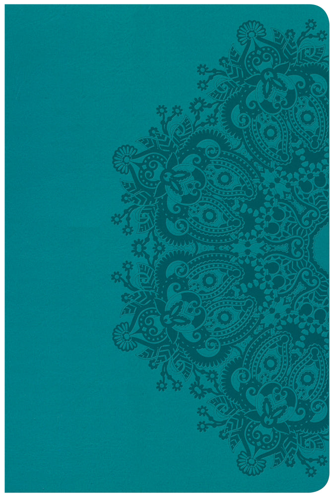 CSB Large Print Personal Size Reference Bible, Teal LeatherTouch