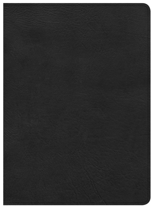 CSB Study Bible, Premium Black Leather, Indexed
