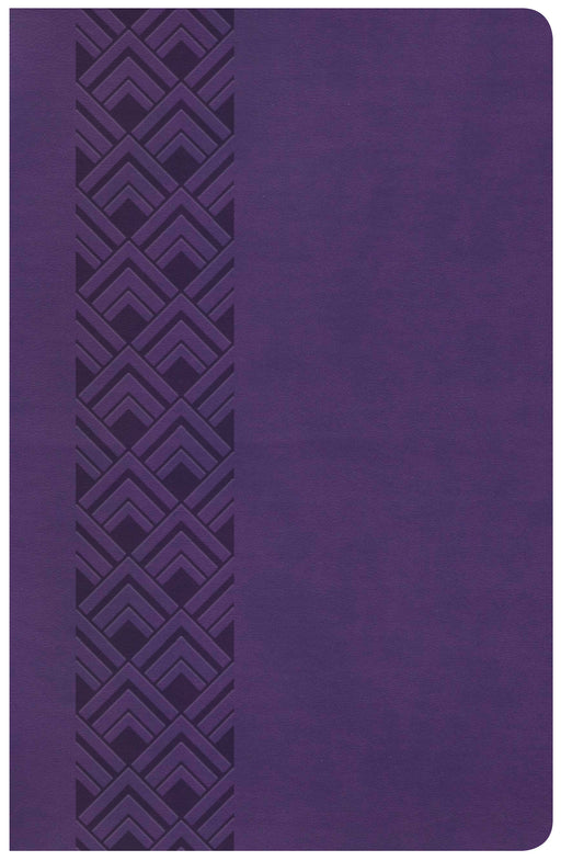 CSB Ultrathin Reference Bible, Value Edition, Purple LeatherTouch