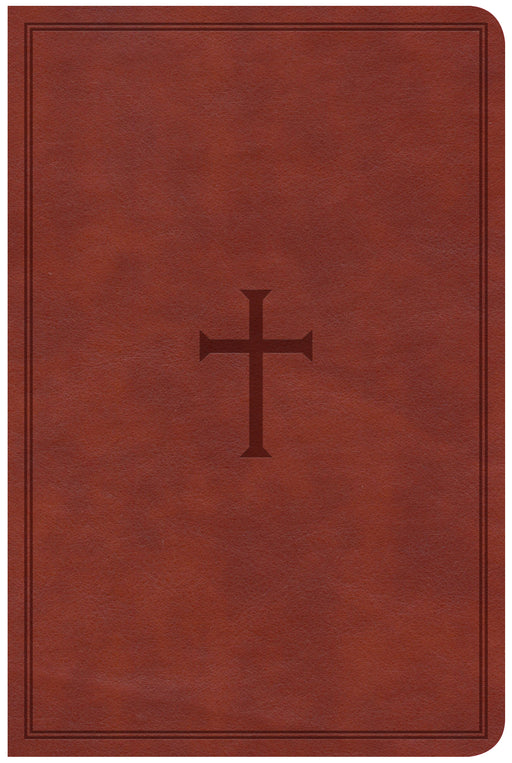 CSB Compact Ultrathin Bible, Brown LeatherTouch, Indexed