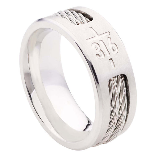 John 3:16 Cross Men's Ring