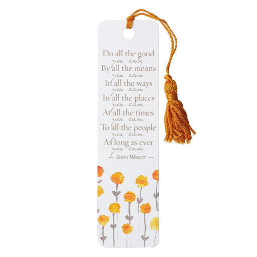 Do All the Good You Can Bookmark with Tassel - Galatians 6:9