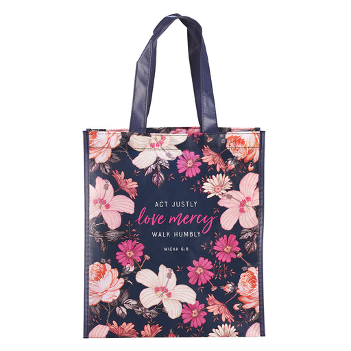 Love Mercy Shopping Bag - Micah 6:8