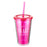 Pink Big Heart Little Minds  Insulated Plastic Tumbler - 1 Corinthians 16:14