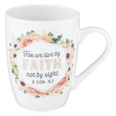 Live by Faith Coffee Mug - 2 Corinthians 5:7