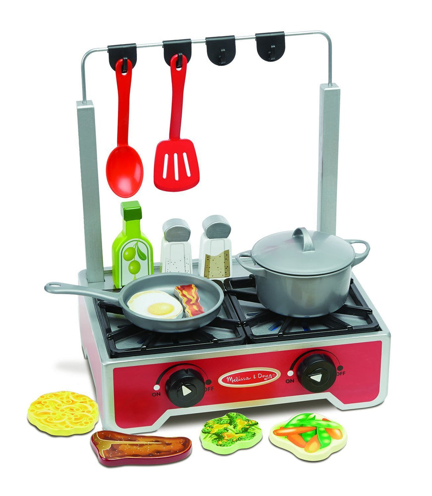 Melissa & Doug Deluxe Wooden Cooktop Set
