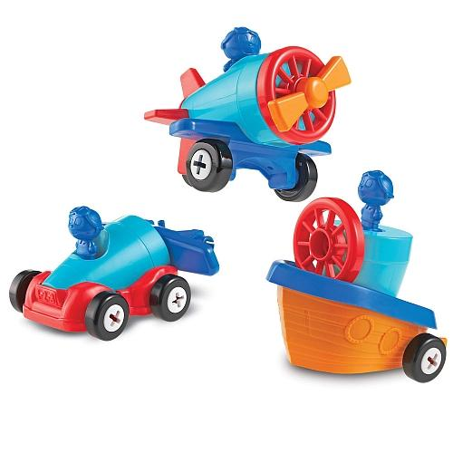 Learning Resources 1-2-3 Build It Car-Plane-Boat