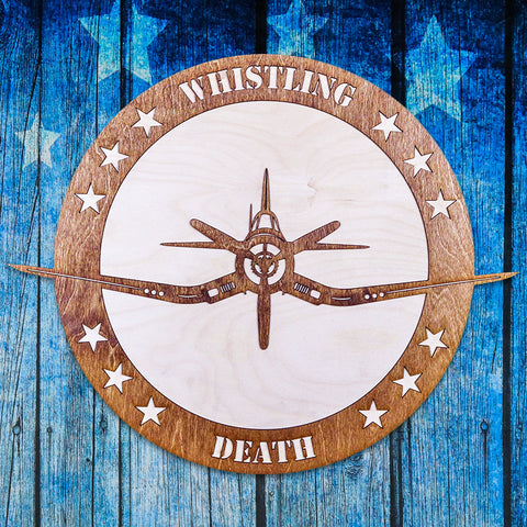 WHISTLING DEATH TWO-TONE WOOD WALL ART
