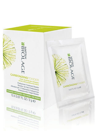 MAXTRIX BIOLAGE <hr> Carbonizing Powder Professional Treatment Booster 15 X 0.07 oz.