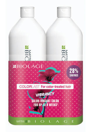 MAXTRIX BIOLAGE <hr> ColorLast Shampoo & Conditioner Liter Duo