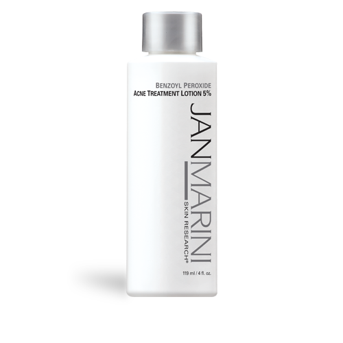 JAN MARINI<hr>Benzoyl Peroxide Lotion 5% and 10%