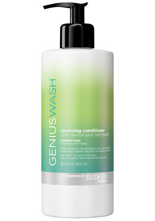 GENIUS WASH <hr> CLEANSING CONDITIONER FOR MEDIUM HAIR