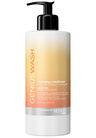GENIUS WASH <hr> CLEANSING CONDITIONER FOR UNRULY HAIR