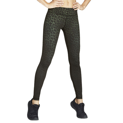 Rockell Full Length Olive Leopard - Vie Active - Sportluxe
