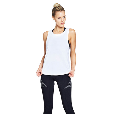 TRAIN HARDER TANK - WHITE - Nimble Activewear - Sportluxe