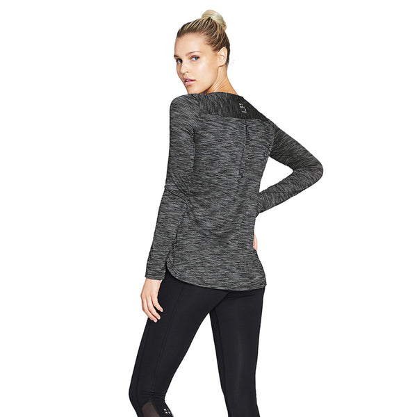 WARMING UP LS - HEATHER BLACK - Nimble Activewear - Sportluxe