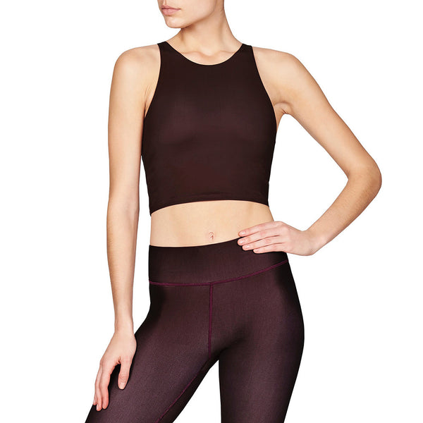 Diana Crop Top Black Cherry - Vie Active - Sportluxe