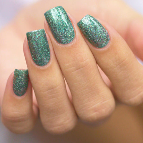 Gel polish BASIC Teal Flakes, 11 ml