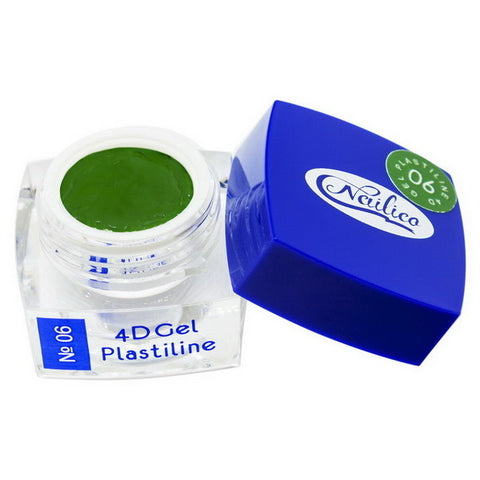 4D Gel Plastiline Nailico № 06 green