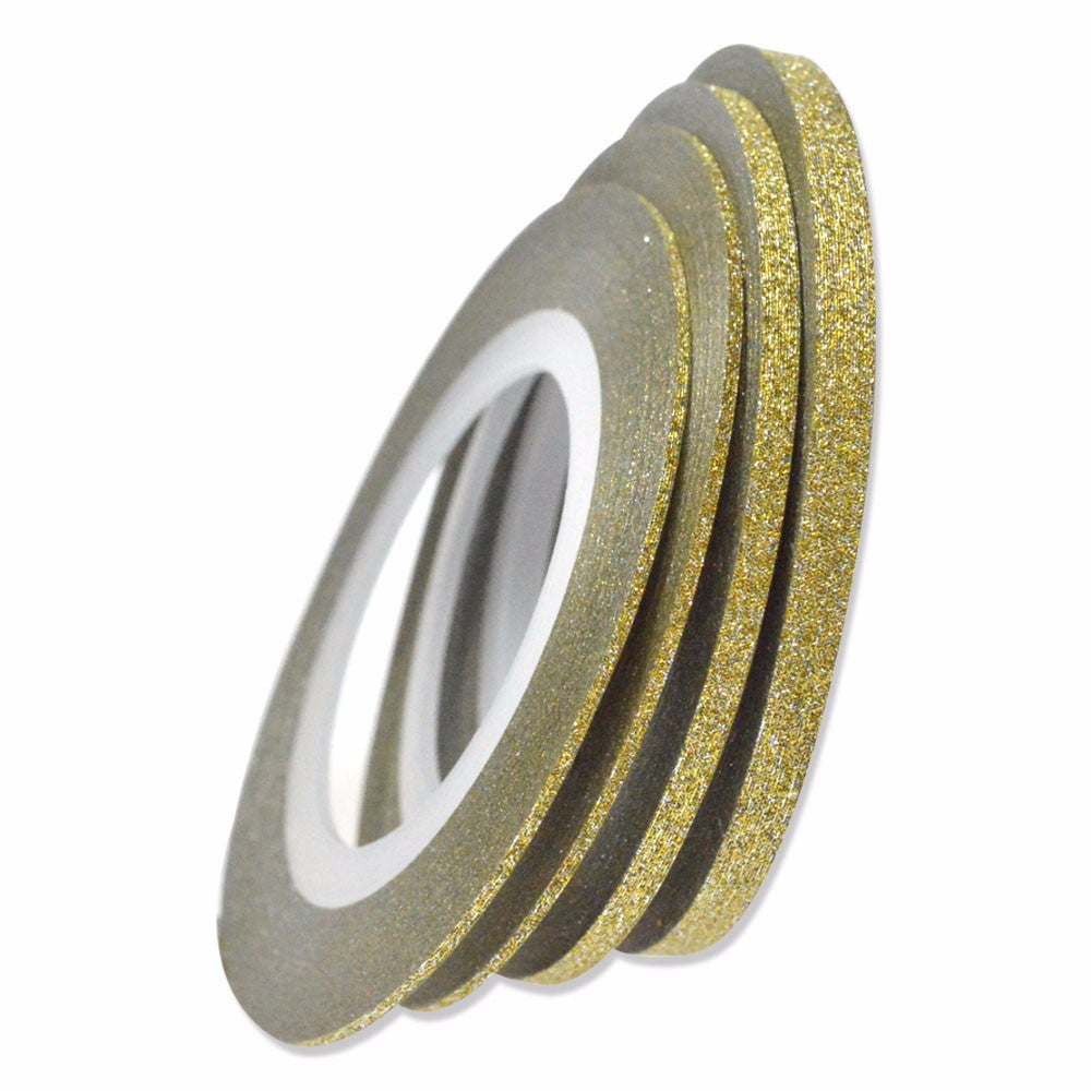 Gold Glitter Striping Tape 2mm - Nailshop.ae