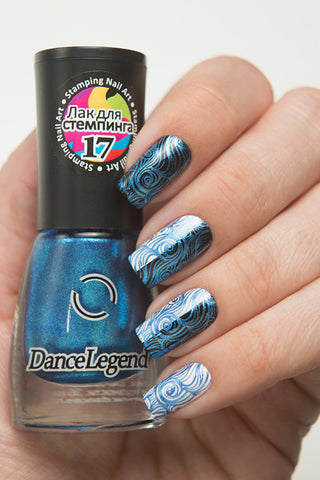 Metalic Blue Stamping Polish