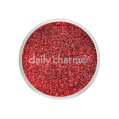 Metallic Glitter Dust / Crimson Red