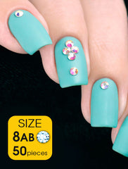 Crystal AB, size 8ss - Nailshop.ae