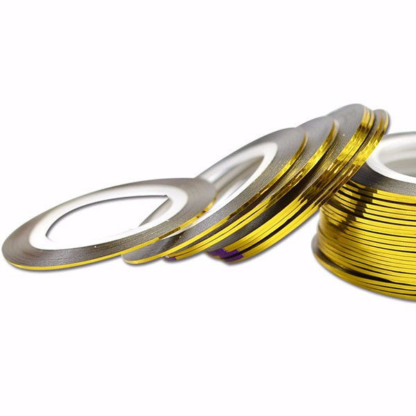 Gold Striping Tape 1mm - Nailshop.ae