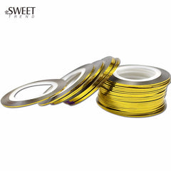 Gold Striping Tape 2mm - Nailshop.ae