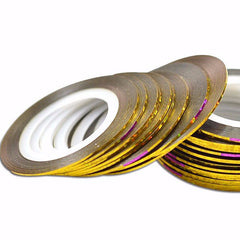 Gold Holo Striping Tape 1mm - Nailshop.ae