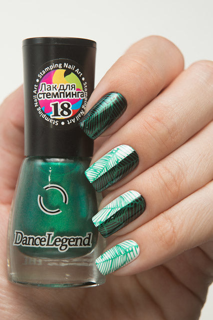 Metalic Green Stamping Polish - Nailshop.ae