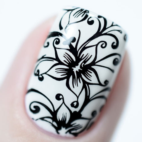 Black Stamping Gel Polish