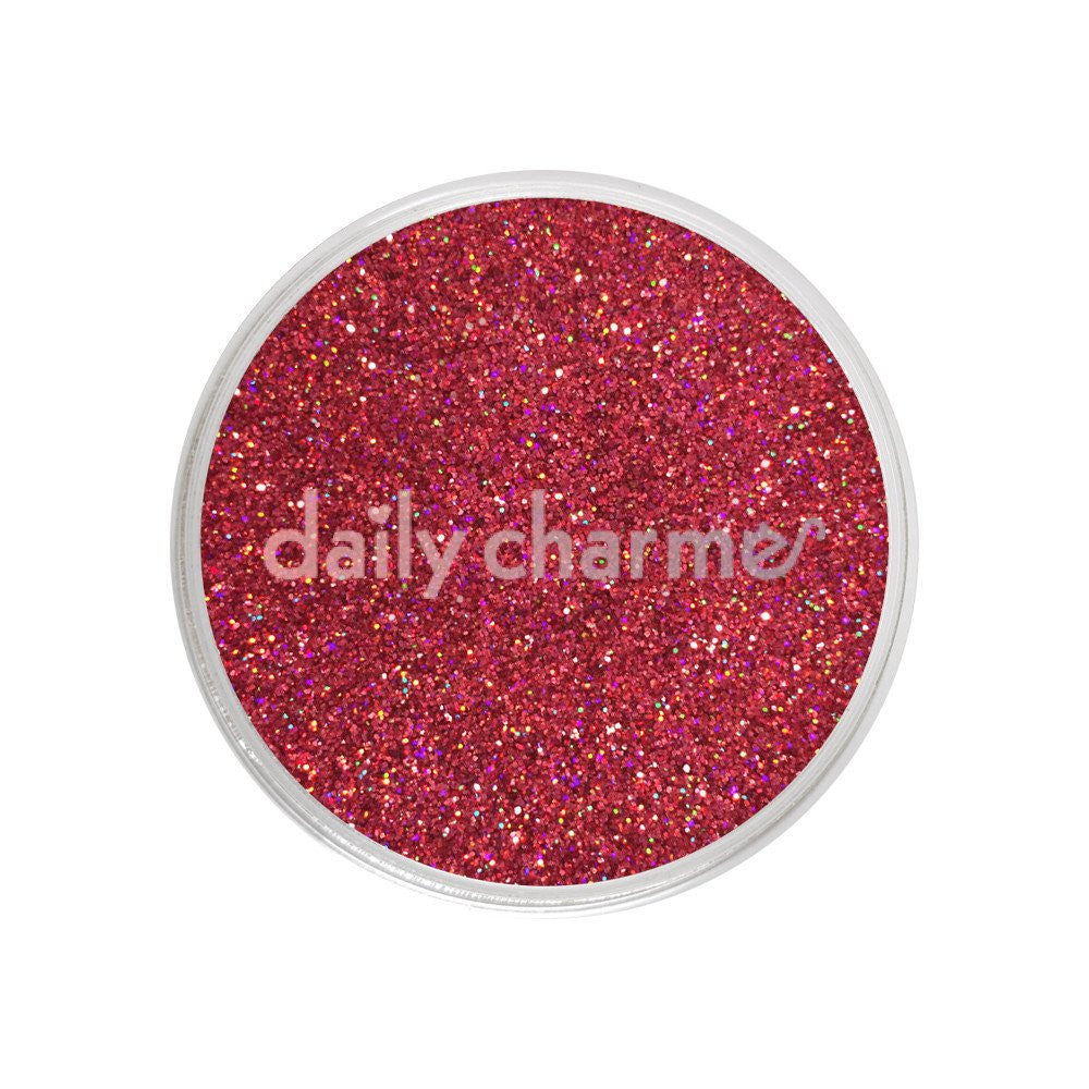 Holographic Glitter Dust / Luscious Red - Nailshop.ae