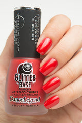 Peel-off Base for chrome(regular polish) red - Nailshop.ae