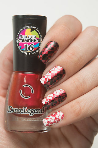 Metalic Red Stamping Polish