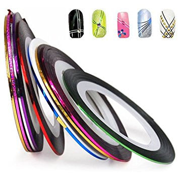 Set of 10 various colors 1mm - Nailshop.ae
