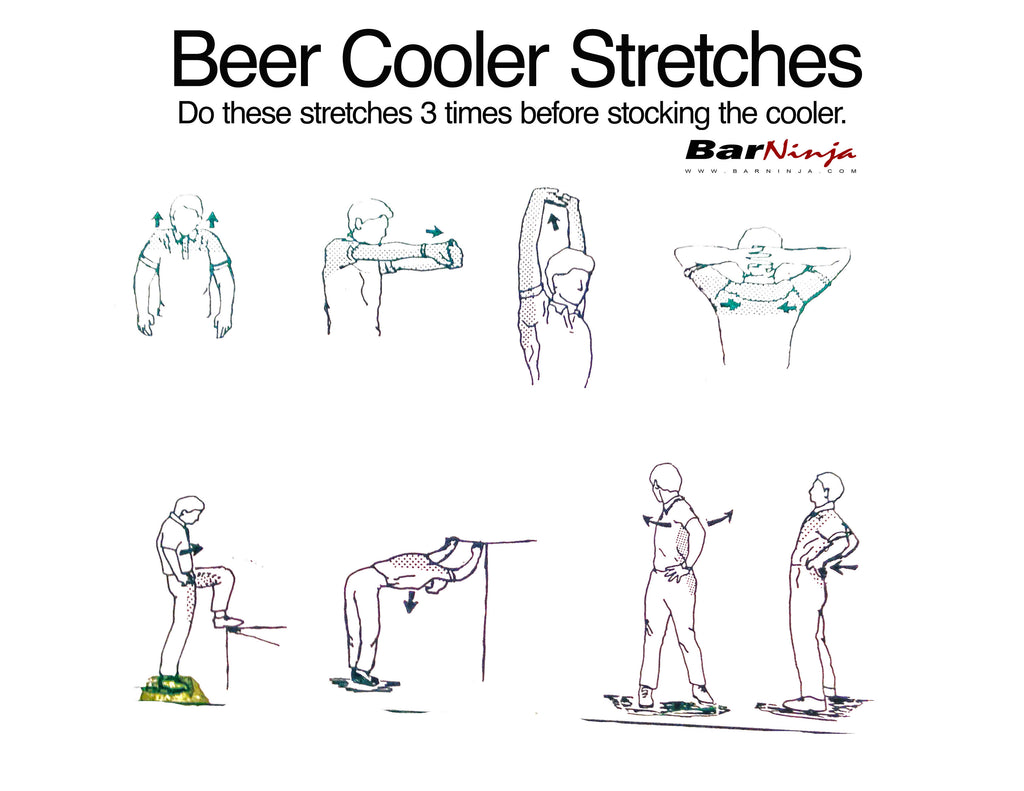 Beer Cooler stretches to prevent injury