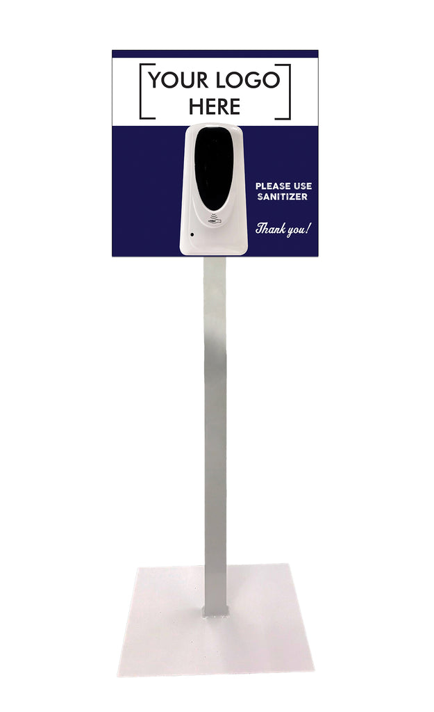 1000 ml Sanitizer Dispenser On Floor Stand With Custom Graphics