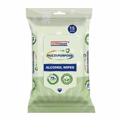 Alcohol Wipes - 15 Wipes