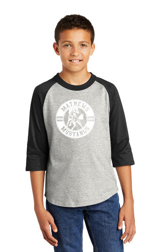Circle Logo Men's District ® Perfect Tri ® 3/4-Sleeve Raglan
